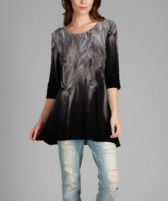 Another great find on #zulily! Black & Gray Abstract Tunic - Plus #zulilyfinds