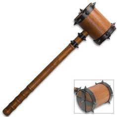 Medieval War Hammer of Thor Woven With Spikes by General Edge, http://www.amazon.com/dp/B004V5XMOG/ref=cm_sw_r_pi_dp_kewcsb15JNN6Z