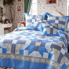 Abstract Star 3 Piece Twin Quilt Set