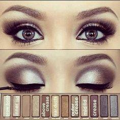 Urban decay Brown makeup tutorial