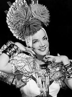 CARMEN MIRANDA PUBLICITY PHOTO - Hollywood 1940's Movie Star Actress