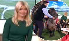 Holly Willoughby left terrified after 'stressed' pony Tv 2017, Holly Willoughby, Father And Son, Pony, Fictional Characters, Pony Horse, Daddy And Son, Ponies, Fantasy Characters