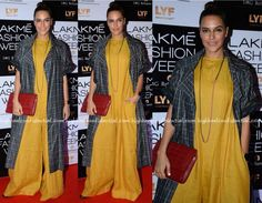 Neha Dhupia Photographed In Chola By Sohaya And Payal Khandwala On Day One Of…