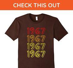 Mens Funny 1967 50th Years Old Birthday Gift Shirt Retro Medium Brown - Retro shirts (*Amazon Partner-Link)