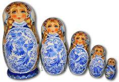 Gzhel Style - Matryoshka