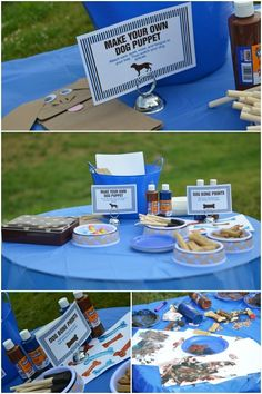 Activities and games for a dog themed birthday party www.spaceshipsandlaserbeams.com