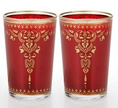 Moroccan Tea Glass - Red Henna Candle
