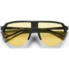 District Vision Nagata Black Sunglasses   District Sports Yellow
