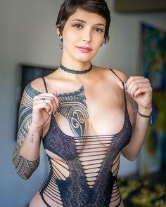 Sexy Tattoos, Body Art Tattoos, Girl Tattoos, Tattoed Women, Leg Sleeve Tattoo, Just Ink, Dark Tattoo, Inked Girls, Tattooed Girls