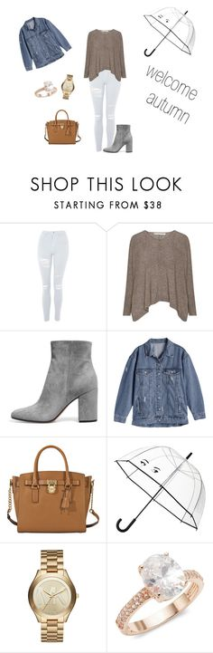 """""""Untitled #288"""" by natalyholly on Polyvore featuring Topshop, MICHAEL Michael Kors, Kate Spade, Michael Kors and Saks Fifth Avenue"""