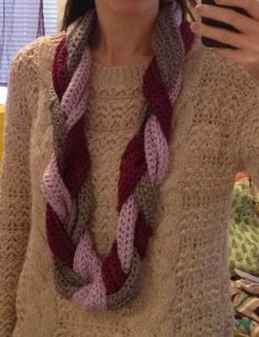 Braided Infinity Scarf (crocheted)