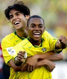 Kaka and Robinho-Braizillian mens national team! My fav mens team, they are so good!  Can't wait to see them in the World Cup