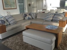 """""""Hi Sam, here's a pic of the cushions you made, which I picked up this afternoon. I love them,...they've added the splash of colour I was looking for."""" - Gayle - Perth, NSW  #ChairCushions, #MadeToOrderCushionsOnlineAustralia #CustomCushions   #ClientPhotos"""