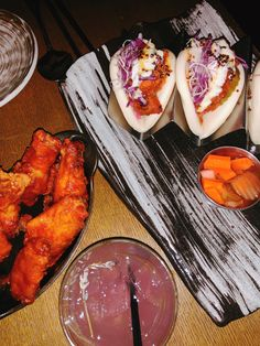 hot & spicy wings + steamed pork buns Restaurant History, Restaurant New York, Steamed Pork Buns, Spicy Wings, Small Plates, Korean Food, Tandoori Chicken, The Best, Favorite Recipes