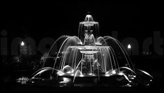 Fireworks at the fountain :  Creative art photo for printable products High resolution