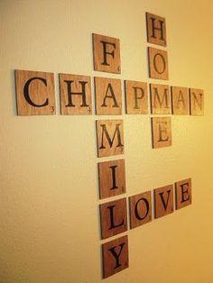 Scrabble Name Wall Art Beautifully Display Family Names
