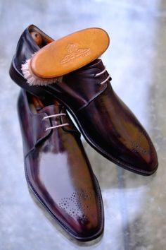 http://chicerman.com  dandyshoecare:  Duke Of Parma by Dandy Shoe Care  #menshoes