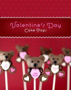 Valentine day cake pop