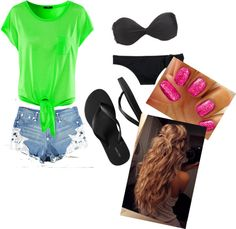 """""""Day at the beach (:"""" by mackenzie2014 on Polyvore"""