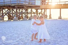 Children's Beach Photography - Twins - Lifestyle Beach Photography: Shannon Renee Photography.