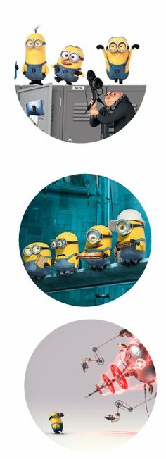 """Despicable Me and minions 1"""" inch digital bottle cap images for Free"""
