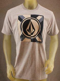 Volcom Large Heather Gray T-Shirt w/ Blue & White Logo