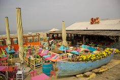 Scheveningen beach bar by stuartmckenzie, via Flickr