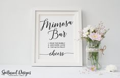 Mimosa Bar Sign. Printable. Engagement Party Decorations. Bridal Shower Decorations. Wedding Sign. Bubbly Bar. Wedding Drink Sign. by SpotswoodDesigns on Etsy