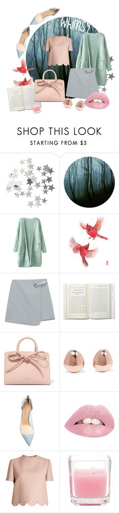 """""""Watercolor Whimsy"""" by briannanicola487 ❤ liked on Polyvore featuring H&M, Chicnova Fashion, Mansur Gavriel, Monica Vinader, Gianvito Rossi and Valentino"""