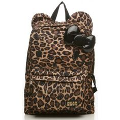 Hello Kitty Leopard Backpack! Super cute, Jersey would love this!!!