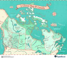 This Map Shows The True Meaning Behind Every Province Name In Canada Canadian Facts, Canadian Things, I Am Canadian, Canadian History, Canada Funny, Canada Day, Capital Of Canada, Name Origins, Canada National Parks