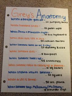 Grey's Anatomy work out Netflix TV Workouts, TV Workout Games