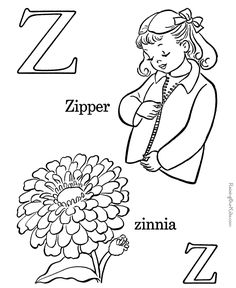 Printable ABC coloring page - Letter Z