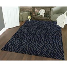 Admire Home Living Bronte Aztec Navy-blue Olefin Area Rug (7'10 x 10'6) | Overstock.com Shopping - The Best Deals on 7x9 - 10x14 Rugs