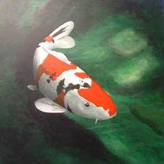 The Picasso Sanke, koi carp, nishikigoi, art, painting