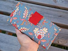 Floral Women's Fabric Wallet - Ladies Flower Design Fabric Wallet - Floral Wallet for Women - Flower Design Organizer Wallet by theWatermelonDesign on Etsy