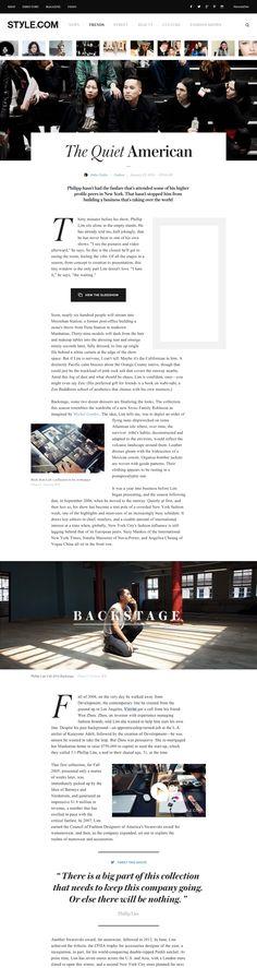 Style.com website — AREA 17