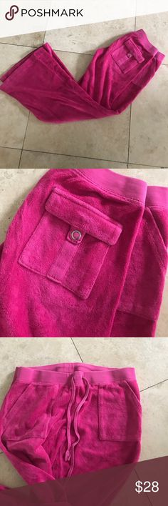 Juicy Couture terry cloth pants Juicy Couture terry cloth pants with awesome pockets! Lightly worn, in great condition Bird by Juicy Couture Pants