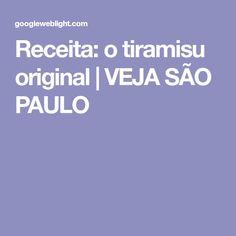 Receita: o tiramisu original | VEJA SÃO PAULO