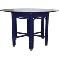 Ficks Reed Lacquered  Dining Table $1,095.00