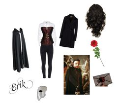 The Phantom of the Opera Erik cosplay by lola-laufeyson on Polyvore featuring Donna Karan, Beatrice.b, Paige Denim, Laura Cole, Masquerade, women's clothing, women's fashion, women, female and woman