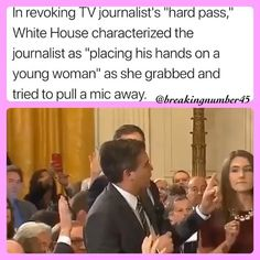 "@nobodytoyou on Instagram: ""@Regrann from @breakingnumber45 - This is a threat to our democracy. @jimacosta did NOTHING wrong.  Slowed down clip to prove it above.…"" Political Equality, Politics, Normal Girl, Prove It, Slow Down, I Got You, His Hands, It Hurts, Acting"