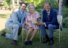 Billy Graham with Corrie Ten Boom and Cliff Barrows