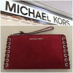 Selling this Authentic MK wristlet on Poshmark! My username is: helloholly74. #shopmycloset #poshmark #fashion #shopping #style #forsale #Michael Kors #Handbags