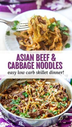 Low Carb Asian Beef & Cabbage Noodles – a quick stir fry dinner! Low Carb Asian Beef & Cabbage Noodles – a quick stir fry dinner! Low Carb Asian Beef & Cabbage Noodles – a quick stir fry dinner! Healthy Low Carb Recipes, Low Carb Dinner Recipes, Breakfast Recipes, Dessert Recipes, Diet Breakfast, Desserts, Healthy Food, Asian Recipes, Beef Recipes