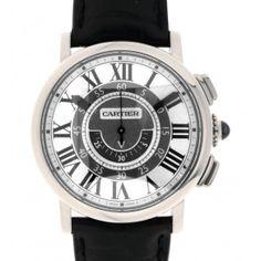 ROTONDE W1556051 Central Chronograph white gold 42mm Cartier, Chronograph, White Gold, Watches, Accessories, Clocks, Clock, Ornament