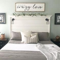 Love, Love, Love, Love, Crazy Love Wood Sign #BedroomSets