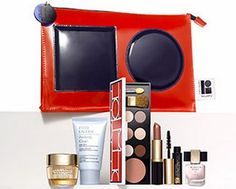 NEW Estee Lauder 2015 7 Pcs Skincare Makeup Gift Set 125 Value with Cosmetic Bag ** You can get more details here : Makeup Set Best Makeup Brushes, Makeup Brush Set, Best Makeup Products, Estee Lauder Gift Set, Best Foundation Makeup, Makeup Kit Essentials, Black Gift Bags, Best Teeth Whitening Kit, Makeup Gift Sets