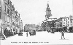 Marktplatz im Winter, czyli Plac Ratuszowy zimą