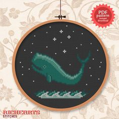 Whale of a time PDF cross stitch pattern von Richearts auf Etsy